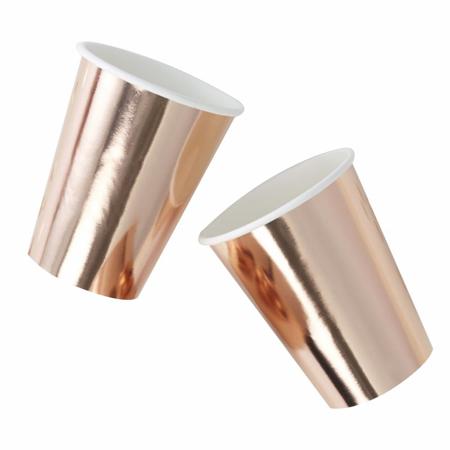 Ginger Ray® Papirnate čašice Rose Gold 8 komada