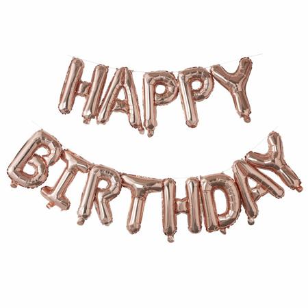 Slika za Ginger Ray® Viseći baloni Happy Birthday Rose Gold