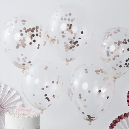 Slika za Ginger Ray® Baloni s konfetima Rose Gold 5 komada