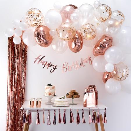 Slika za Ginger Ray® Luk iz balona Rose Gold