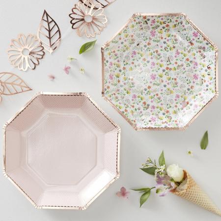 Slika za  Ginger Ray® Tanjuri s folijom Ditsy Floral 8 komada