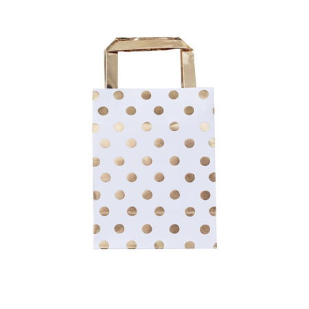 Ginger Ray® Poklon vrećice Gold Polka Dot 5 komada
