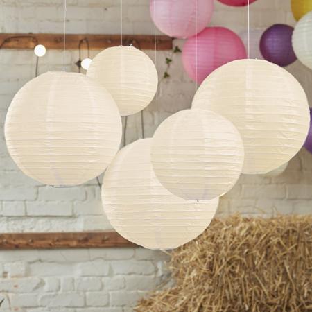 Slika za Ginger Ray® Papirnati lampion Ivory