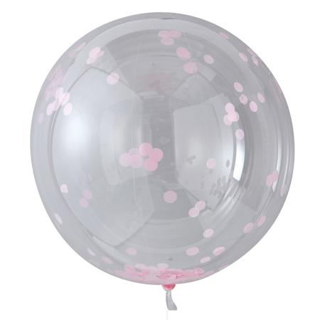 Slika za  Ginger Ray® Veliki baloni s konfetima Pink 3 komada