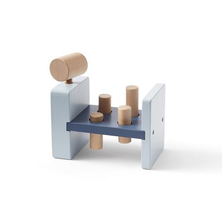 Kids Concept® Drvena igračka s čekićem Aiden Blue