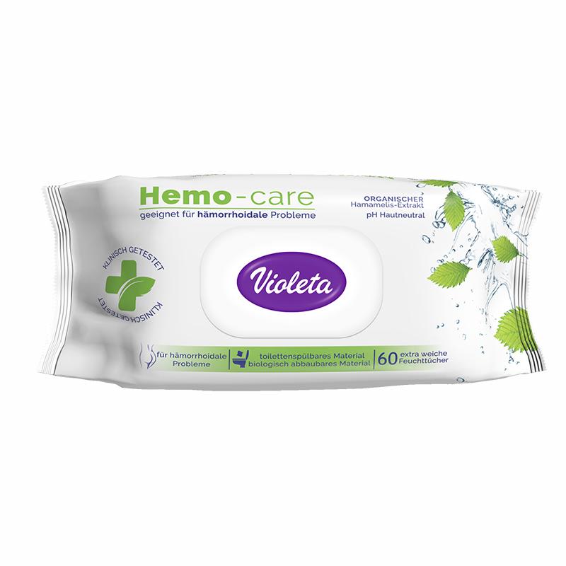 Slika za Violeta® Vlažni Toalet papir Hemo Care 60/1