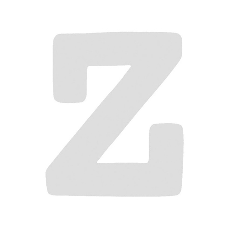 BamBam® Lesene črke Bele - Z
