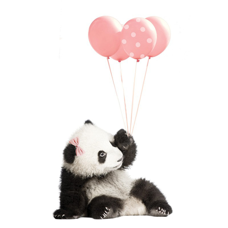 Dekornik® Zidna naljepnica Pink Panda - M