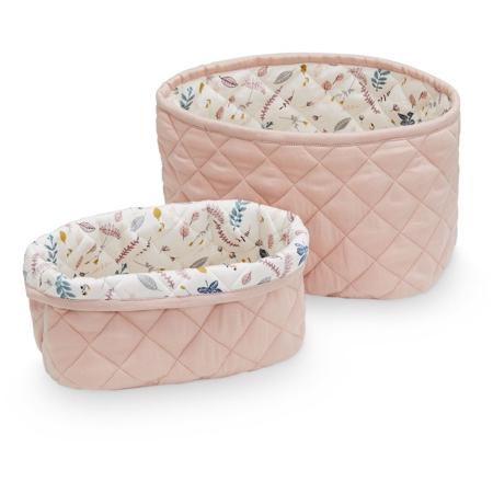 Slika za CamCam® Set 2 pamučne košare za pohranjivanje Blossom Pink