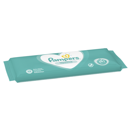 Pampers® Otroški čistilni robčki Sensitive 12 kosov