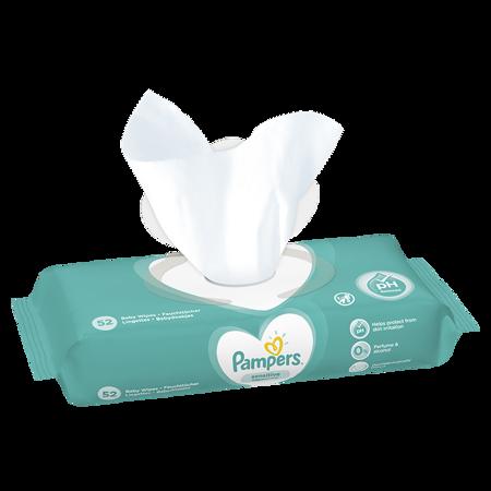 Slika za Pampers® Otroški čistilni robčki Sensitive 52 kosov