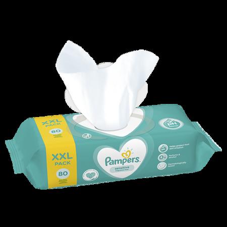 Slika za Pampers® Otroški čistilni robčki Sensitive 80 kosov
