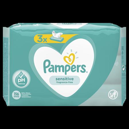 Slika za Pampers® Otroški čistilni robčki Sensitive 3x52 kosov