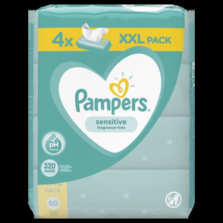 Slika za Pampers® Otroški čistilni robčki Sensitive 4x80 kosov