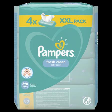 Slika za Pampers® Otroški čistilni robčki Fresh Clean 4x80 kosov