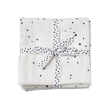Slika za Done by Deer® Komplet 2 tetra pelene Dreamy Dots White 70x70