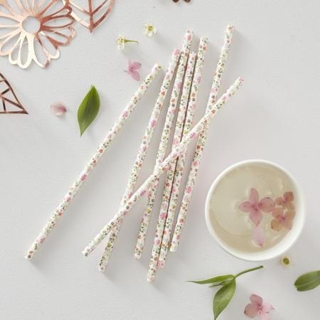 Slika za Ginger Ray® Papirnate slamice Ditsy Floral 25 komada