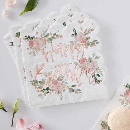 Slika za Ginger Ray® Papirnate salvete Ditsy Floral 16 komada