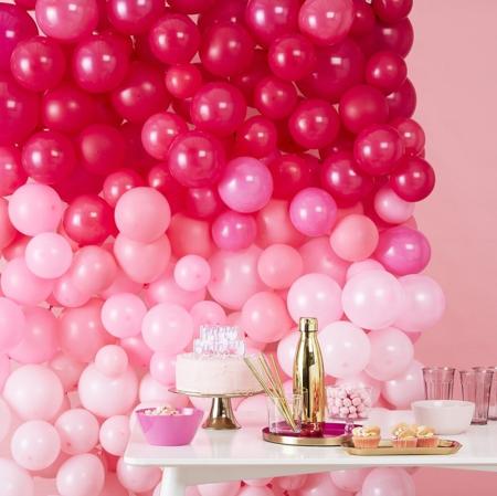 Slika za Ginger Ray® Zid iz balona Ombre Pink