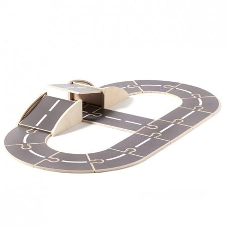 Slika za Kids Concept® Lesena proga za avtomobilčke Aiden