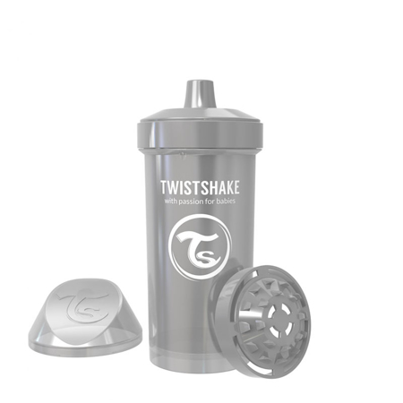 Slika za Twistshake® Lonček Kid Cup 360ml (12+m) Pearl Grey