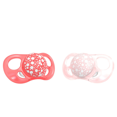 Slika za Twistshake® 2x Duda Pearl Pink&Red (0+/6+) - 6+M