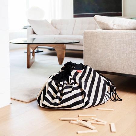 Play&Go® Vreča in podloga Stripes Black