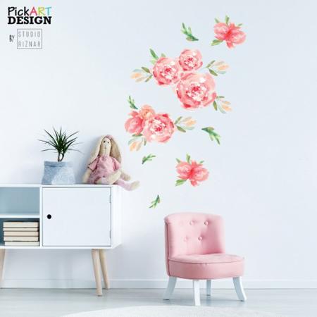Slika za Pick Art Design® Stenske nalepke Rože