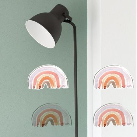 Pick Art Design® Stenske nalepke Samorog z mavricami manjši