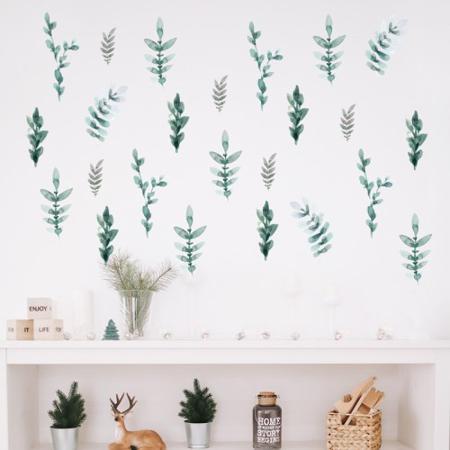 Slika za Pick Art Design® Stenske nalepke Zeleni Listi