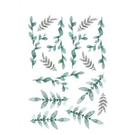Pick Art Design® Stenske nalepke Zeleni Listi