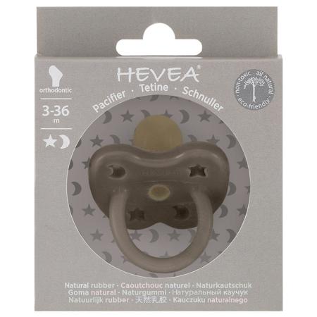 Slika za Hevea® Ortodontska duda od kaučuka Shitate Grey LUNA&ZVJEZDICE