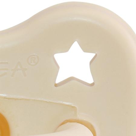 Slika za Hevea® Ortodontska duda od kaučuka  Milky White LUNA&ZVJEZDICE