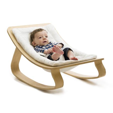 Slika za Charlie Crane® Ležalnik in gugalnik za dojenčka LEVO Hetre White