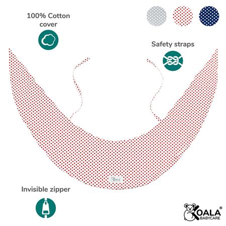 Slika za Koala Babycare® Presvlaka za jastuk za trudnice Hug Comfy Red