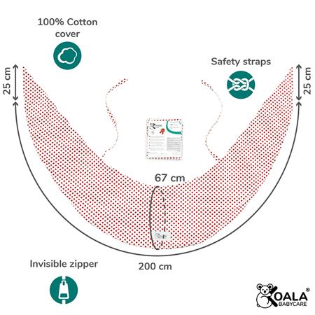 Koala Babycare® Presvlaka za jastuk za trudnice Hug Comfy Red