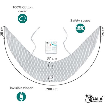 Slika za Koala Babycare® Presvlaka za jastuk za trudnice Hug Comfy
