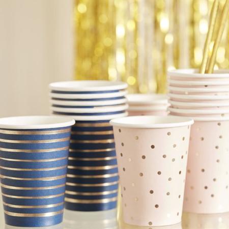 Slika za Ginger Ray® Papirnate čašice Pink/Navy 8 komada