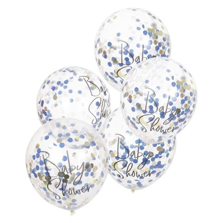 Slika za Ginger Ray® Baloni s konfetima za Baby Shower Pink/Navy 5 komada