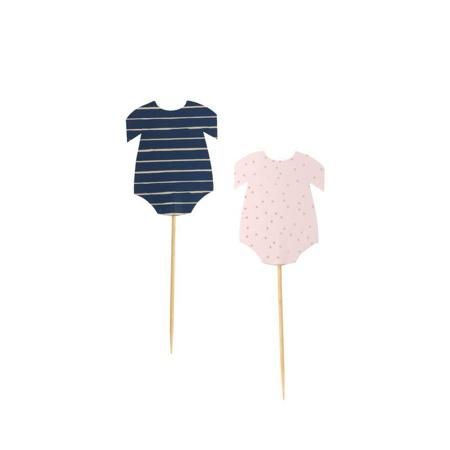 Ginger Ray® Ukrasi za kolačiće Pink/Navy 12 komada