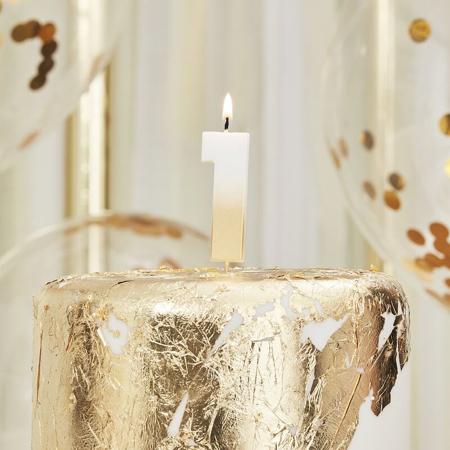 Slika za Ginger Ray® Svjećica Gold Ombre Broj 1