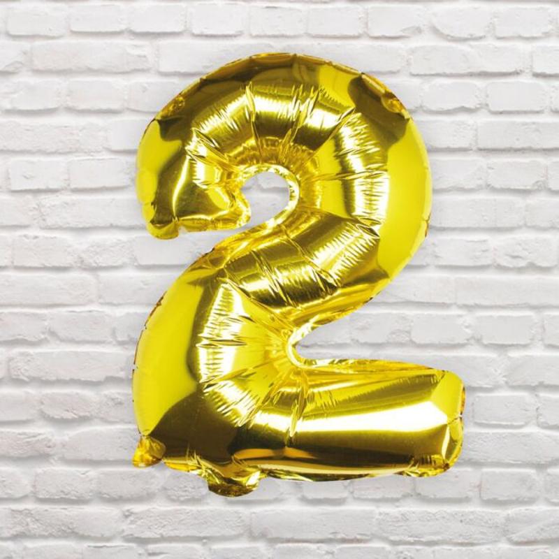 Slika za Ginger Ray® Balon Broj 2 Gold