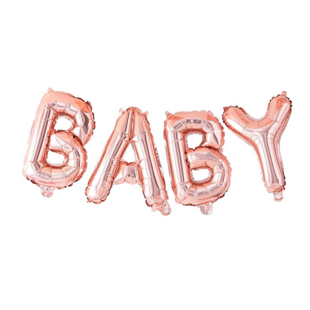 Ginger Ray® Viseći baloni Baby Rose Gold