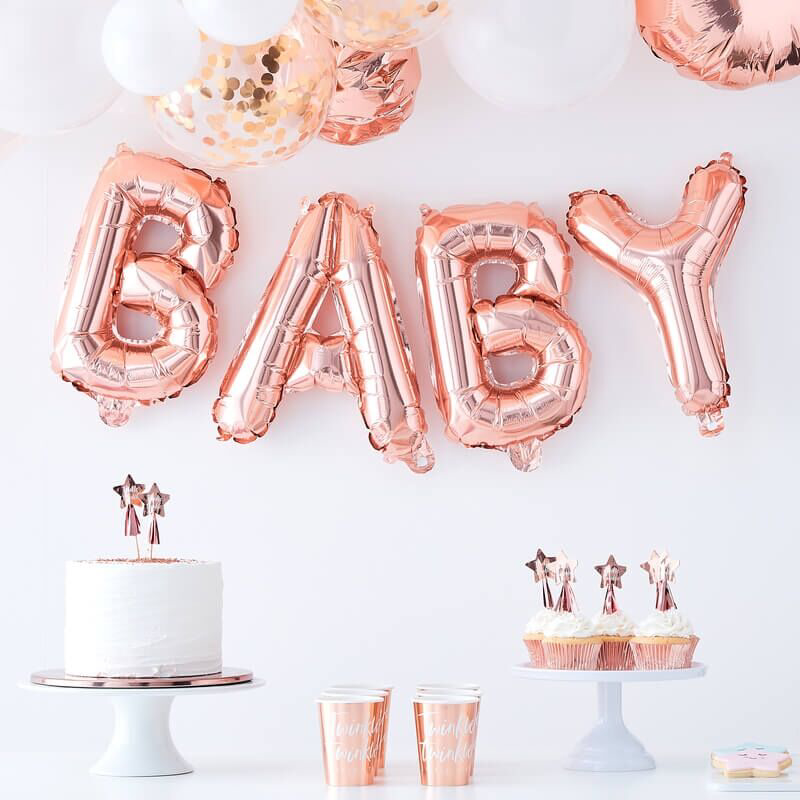Slika za Ginger Ray® Viseći baloni Baby Rose Gold