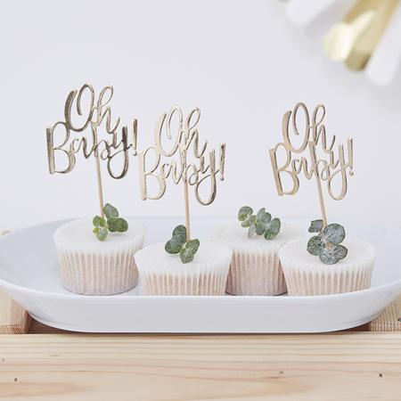 Slika za Ginger Ray® Ukrasi za kolačiće Oh Baby! 12 komada