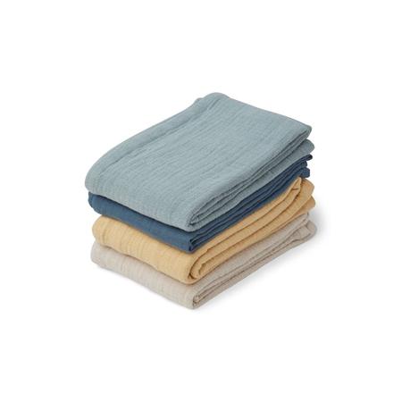 Slika za Liewood® Set četri muslin pelene  Leon Blue mix 60x60
