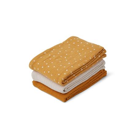 Slika za Liewood® Set 3  muslin pelene Confetti Yellow Mellow Mix 60x60