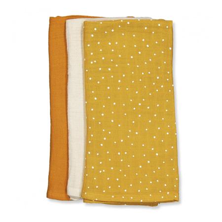 Liewood® Set 3  muslin pelene Confetti Yellow Mellow Mix 60x60