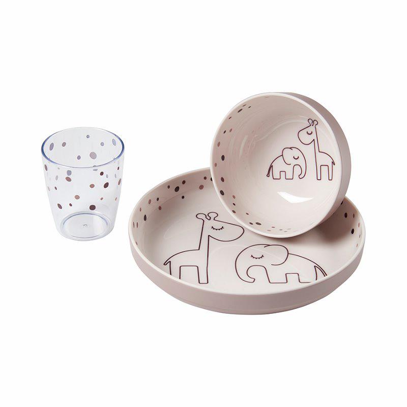 Slika za Done by Deer® Yummy Set za hranjenje Dreamy dots Powder