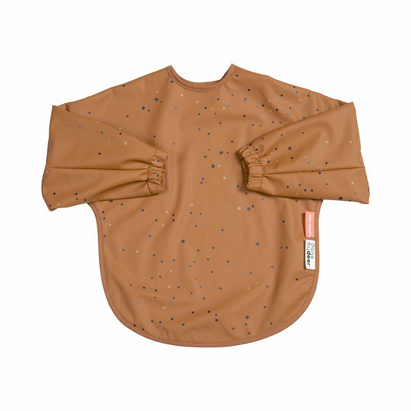 Slika za Done by Deer® Podbradnjak s rukavima 18m+ Dreamy dots Mustard
